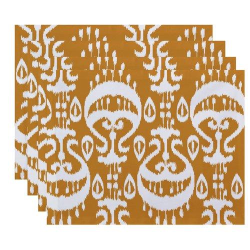 Bungalow Rose Sabrina Ikat Geometric Print Placemat (Set of 4)