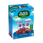 Black Forest Triple Layer Berry Collision Fruit Snack Pouches, 19.2 Oz., 24 Count