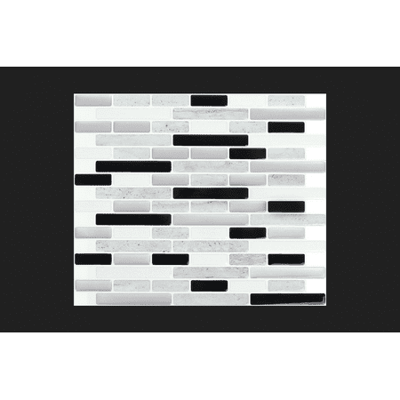 Peel And Impress Adhesive Wall Tile in Space Grey Marble (24048)