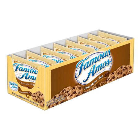 Famous Amos Chocolate Chip Snack Cookies, 2 Oz 8 ct