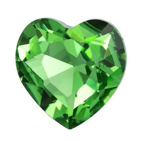 2pcs Embellishment Rhinestone, Emerald Heart Foil Back Crystal 27x27mm/pack (3-pack Value Bundle), SAVE $2