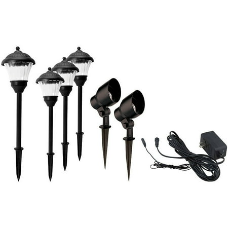 Better Homes and Gardens Archdale 6 Piece Outdoor Quickfit LED Pathway Lighting Set  Walmart.com