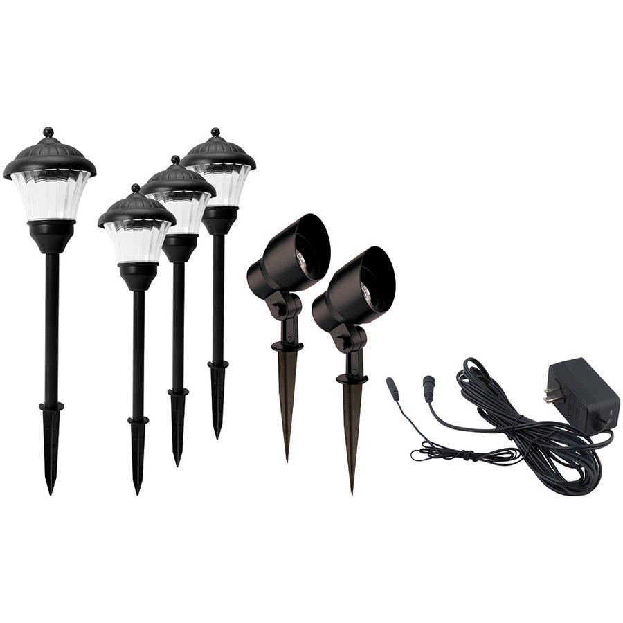 Better Homes and Gardens Archdale 6 Piece Outdoor QuickFIT LED Pathway Lighting Set