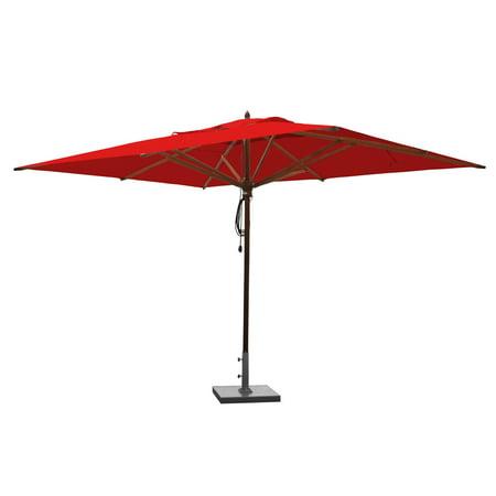 Greencorner Mahogany 10 X 13 Ft Rectangular Patio Umbrella