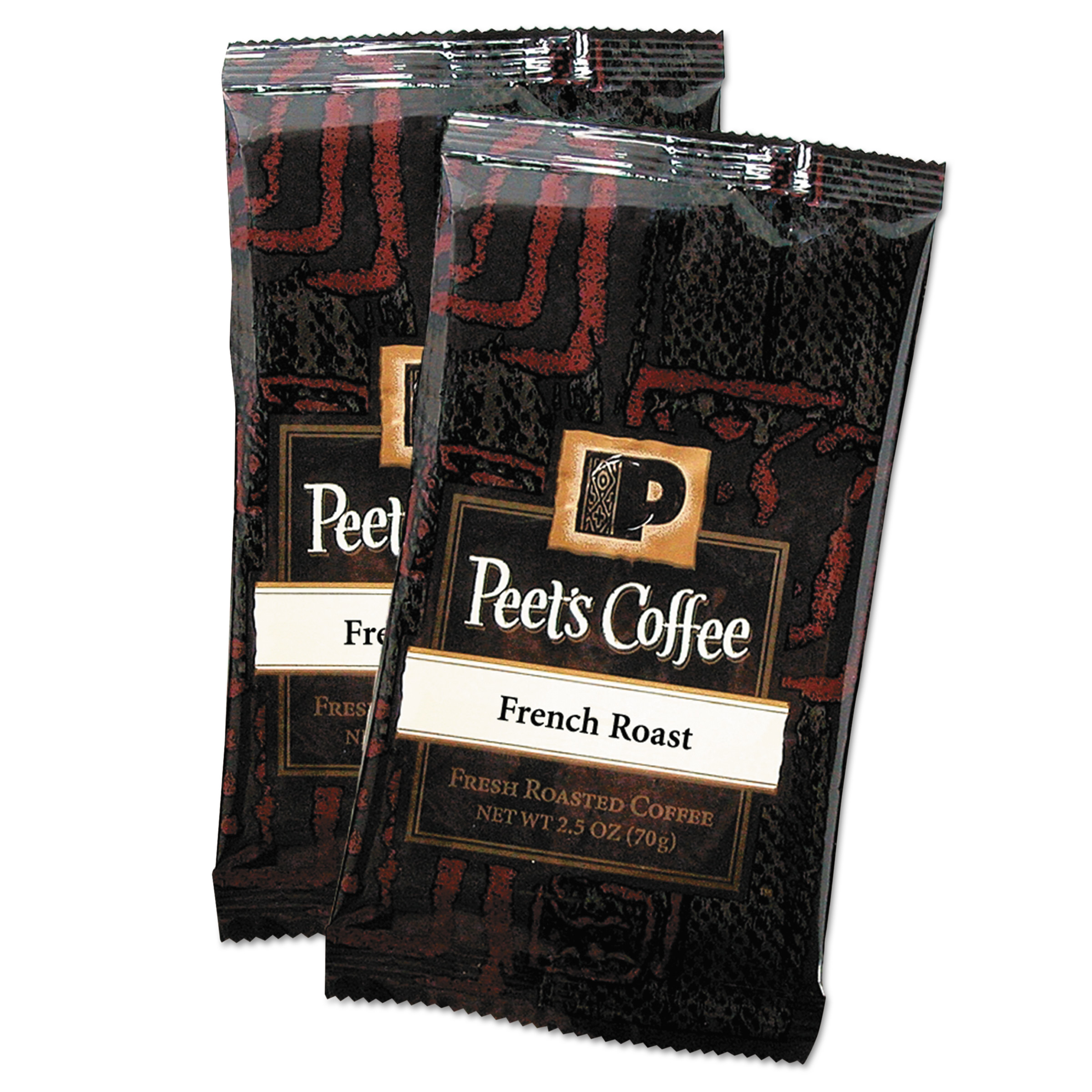 Peet's Coffee & Tea Coffee Portion Packs, French Roast, 2.5 oz Frack Pack, 18/Box