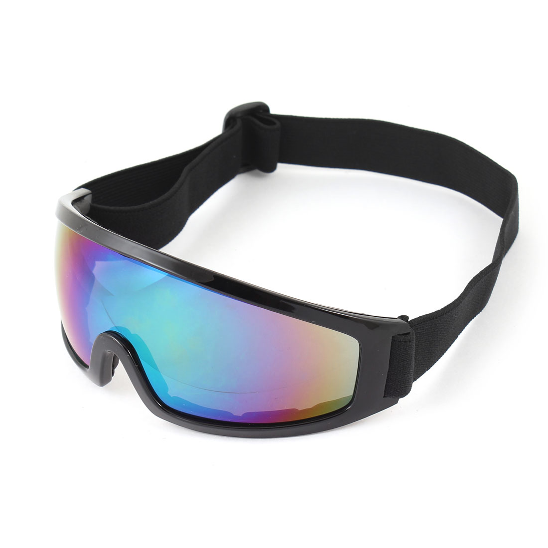 Women Men Winter Outdoor Sport Goggles Ski Snowboard Skate Flat Glass Black by