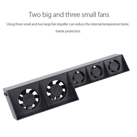 For PS4 5-Fan Playstation Cooling External Turbo Temperature Control Cooler - image 5 of 8