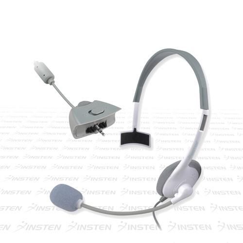 Insten Gaming Wired Headset Live Chat Mic For Microsoft xBox 360, White Gaming Headsets With Microphones for xBox 360