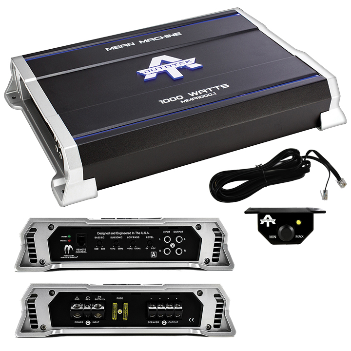 Autotek MMA1000.1 The Mean Machine Monoblock Amp, Class AB, 1,000 Watts