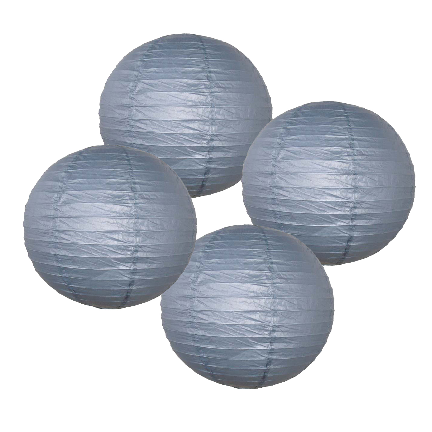"""Just Artifacts 6"""" Navy Blue Paper Lanterns (Set of 4) - Decorative Round Chinese/Japanese Paper Lanterns for Birthday Parties, Weddings, Baby Showers, and Life Celebrations!"""