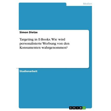 Targeting in E-Books. Wie wird personalisierte Werbung von den Konsumenten wahrgenommen? - eBook (Personalisierte Badekappe)