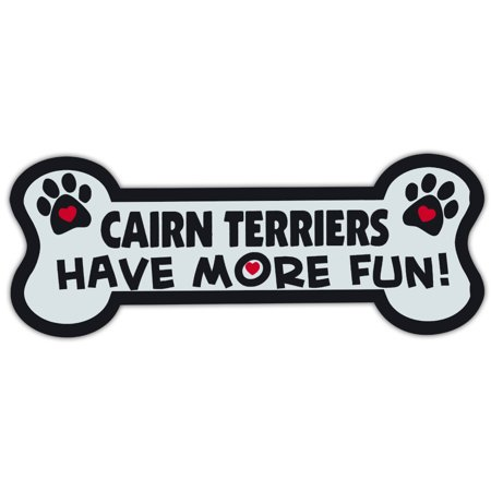 Dog Bone Shaped Magnets: Cairn Terriers Have More Fun! | Cars, Trucks, Mailboxes
