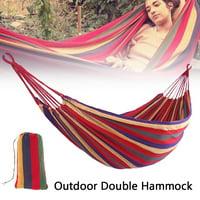 Portable Garden Canvas Hammock Canvas Bed Camping Hanging Porch Backyard Indoor Outdoor Swing