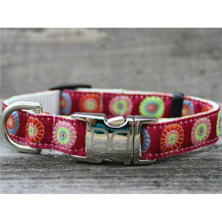 - Diva Dog UBS247 Sahara Rose Dog Collar - Teacup Sized