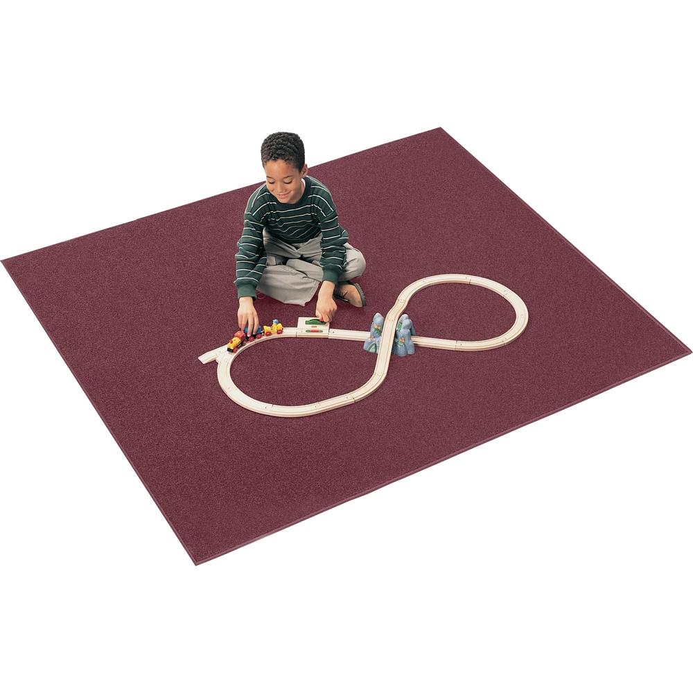 Carpets for Kids  Mt. St. Helen Rug,Anti-Static,30oz,4'x6', Cranberry