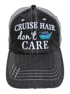 Katydid Cruise Hair Don't Care Women's Trucker Hats Caps