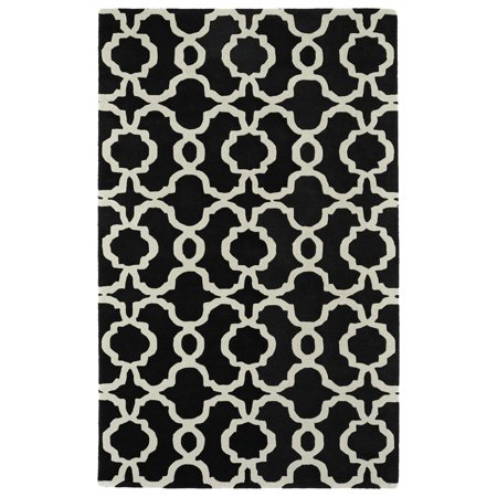 Kaleen Rugs Revolution Collection REV03-02 Black Hand Tufted 7'9
