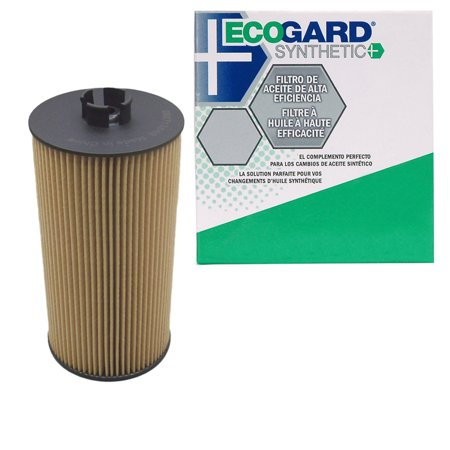 (ECOGARD S5526 Cartridge Engine Oil Filter for Synthetic Oil - Premium Replacement Fits Ford F-250 Super Duty, F-350 Super Duty, E-350 Super Duty, Excursion, E-350 Club Wagon, E-450 Super Duty)