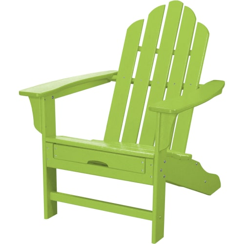 Hanover Outdoor Furniture All-Weather Contoured Adirondack Chair with Hideaway Ottoman by Hanover Outdoor