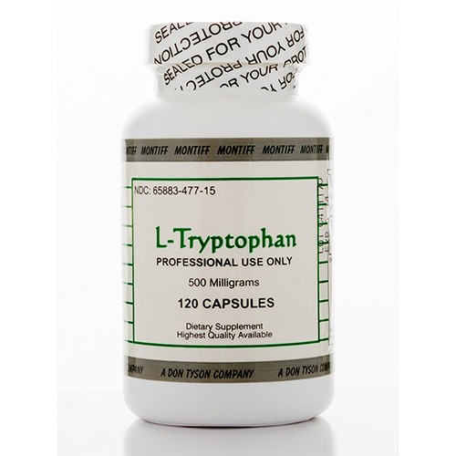 L-Tryptophan 500 mg - 120 Capsules by Montiff
