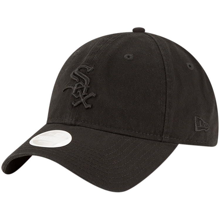 Chicago White Sox New Era Women's Core Classic Tonal Team 9TWENTY Adjustable Hat - Black - OSFA