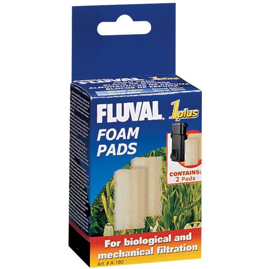 "Fluval 1 ""Plus"" Foam Insert, 2-Pack"