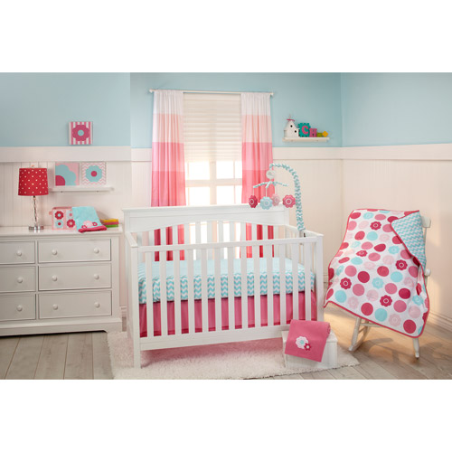 Little Bedding by NoJo Tickled Pink 3-Piece Crib Bedding Set
