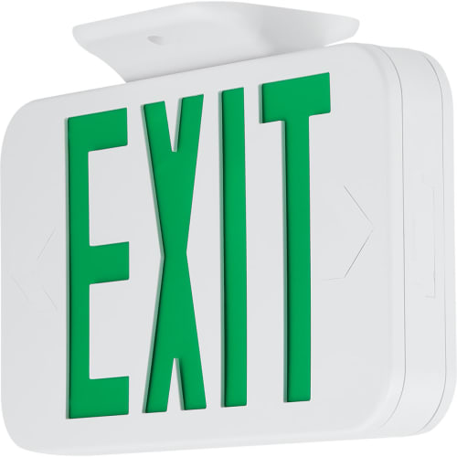 Progress Lighting PETPE-UG-30 Universal Green LED Exit Sign with Test Switch