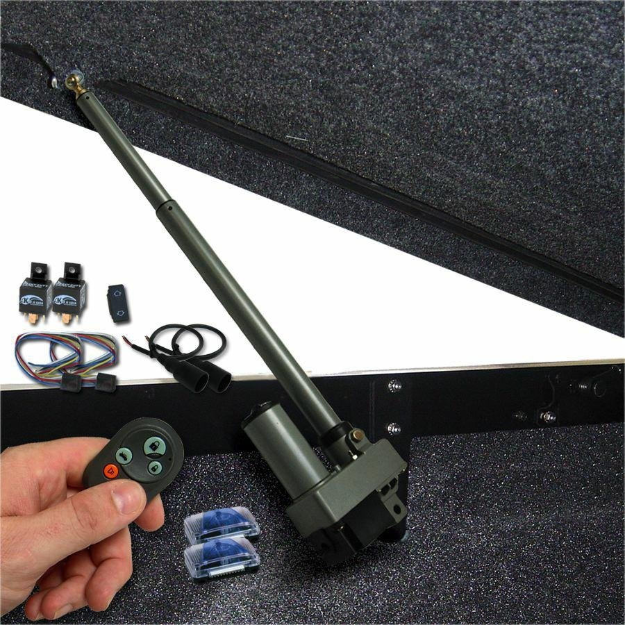 Bolt In Power Tonneau Cover Opener with Remote and One Touch Operation 9 inch