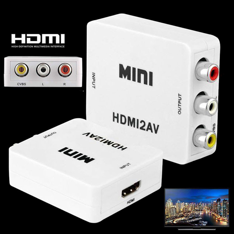 Mini 1080P HDMI to RCA Audio Video AV CVBS Adapter Converter For HDTV