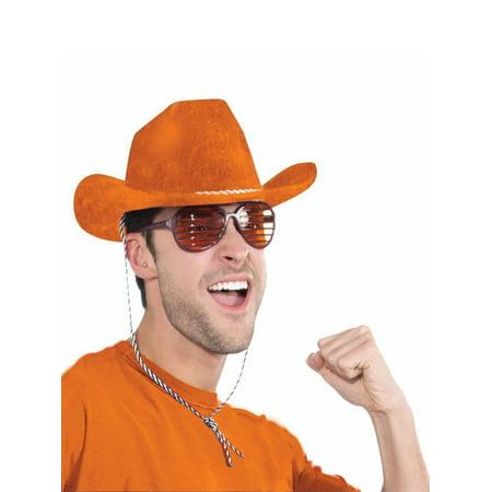 Orange Cowboy Hat Halloween Costume Accessory
