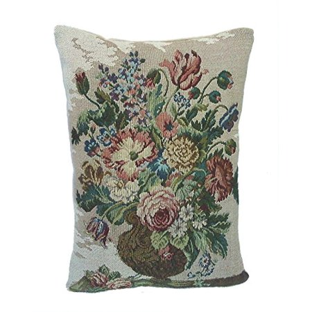 Corona Decor French Woven Flower Theme Decorative Pillow BlueGreen Simple Blue And Green Decorative Pillows