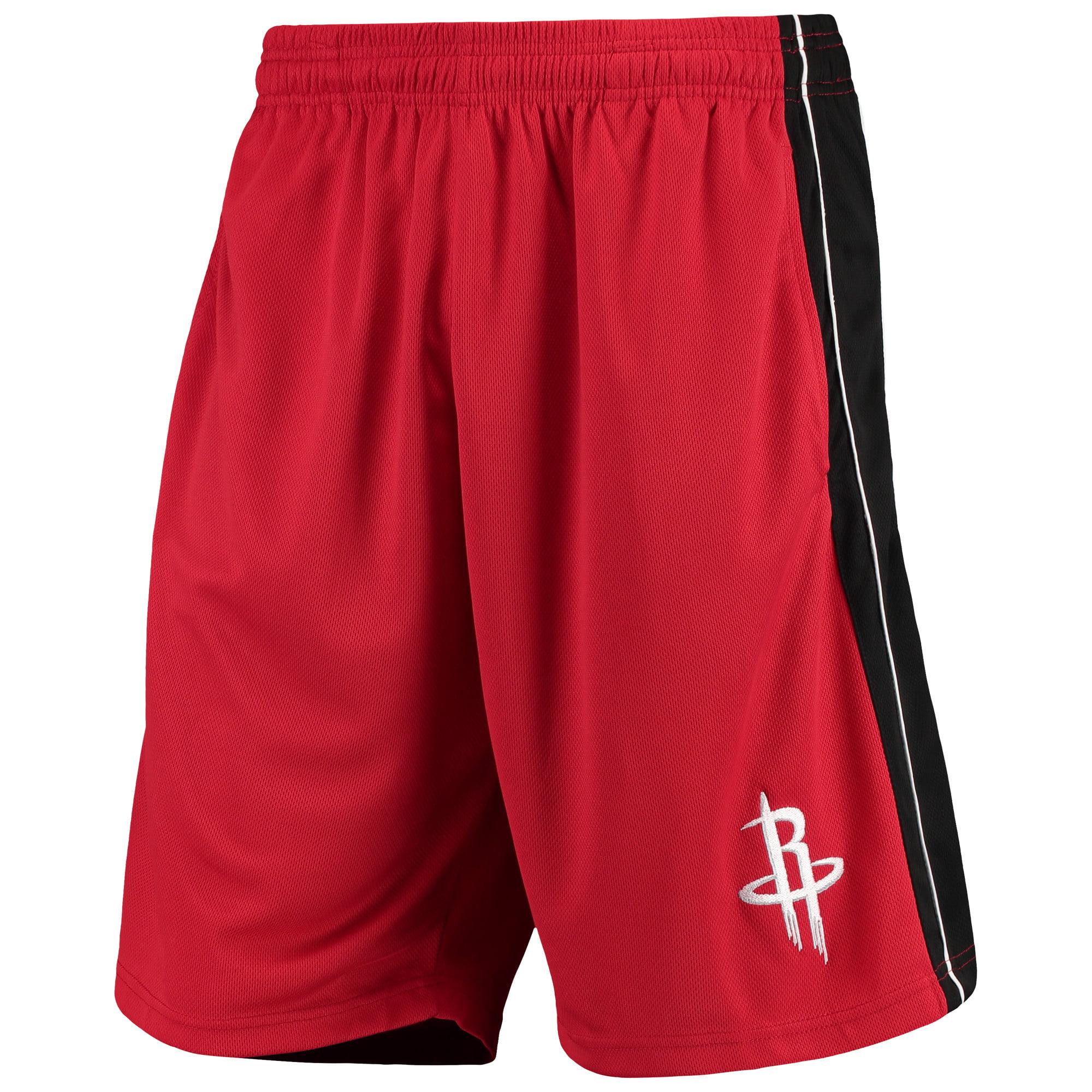 Houston Rockets Majestic Big & Tall Birdseye Shorts - Red/Black
