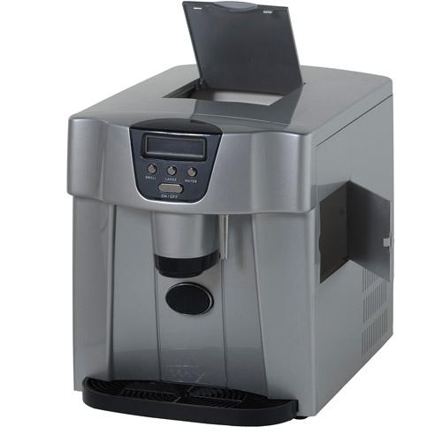 Avanti Countertop Icemaker/Water Dispenser, Silver, 12 1/4 X 14 1