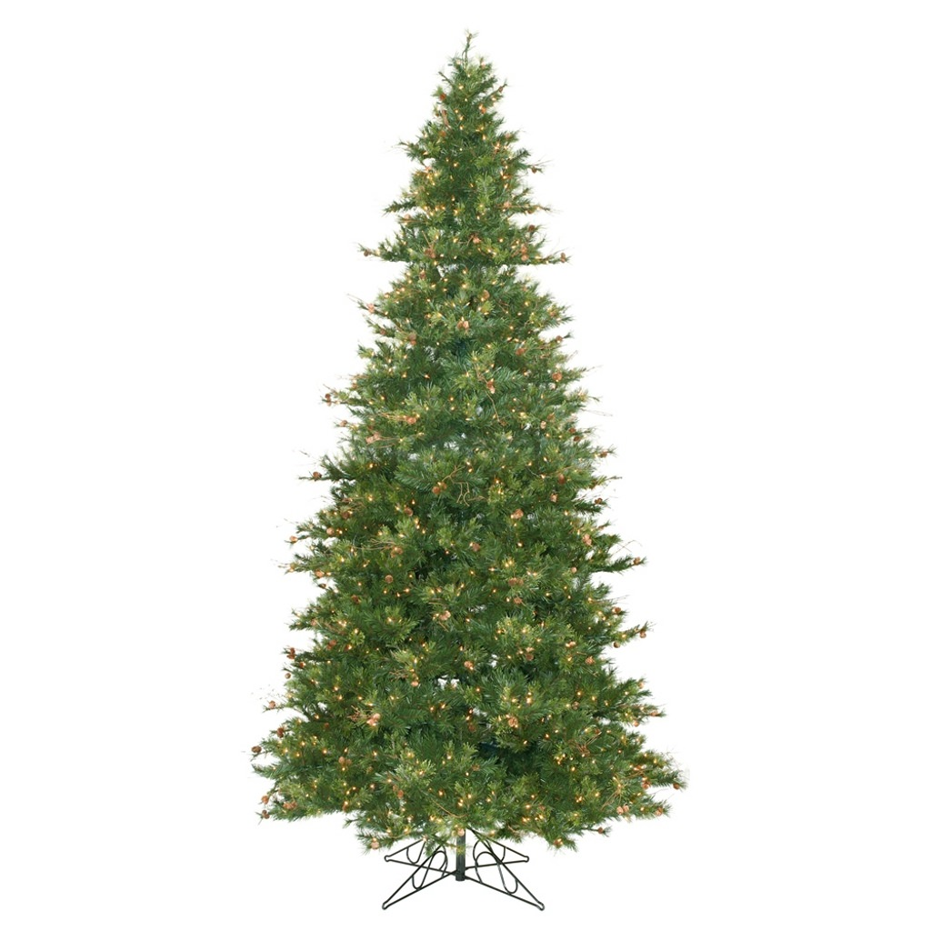 "Vickerman 06324 - 12' x 76"" Mixed Country Pine 1,900 Clear Lights Christmas Tree (A801691)"