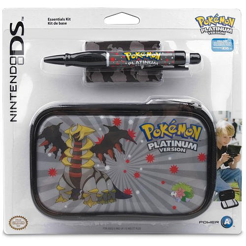 Pokemon Platinum Version Nintendo DS Lite Travel Case 3 Piece Accessory Kit **NEW**