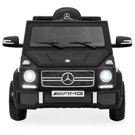 Best Choice Products 12V Kids Licensed Mercedes-Benz G65 SUV Ride On Car w/ Parent Control, Lights, AUX - Matte Black
