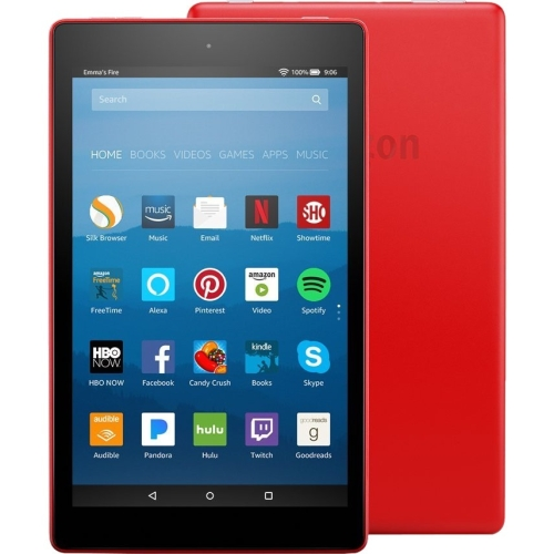 """Amazon Fire HD 8 Tablet - 8"""" - 1.50 GB Quad-core (4 Core) 1.30 GHz - 32 GB - 1280 x 800 - In-plane Switching (IPS) Technology - Punch Red - 16:10 Aspect Ratio - microSD Memory Card Supported - Wi"""