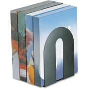 """Officemate Heavy Duty 10"""" Bookends, Non-Skid Base, Black, 2/Pack (93142)"""