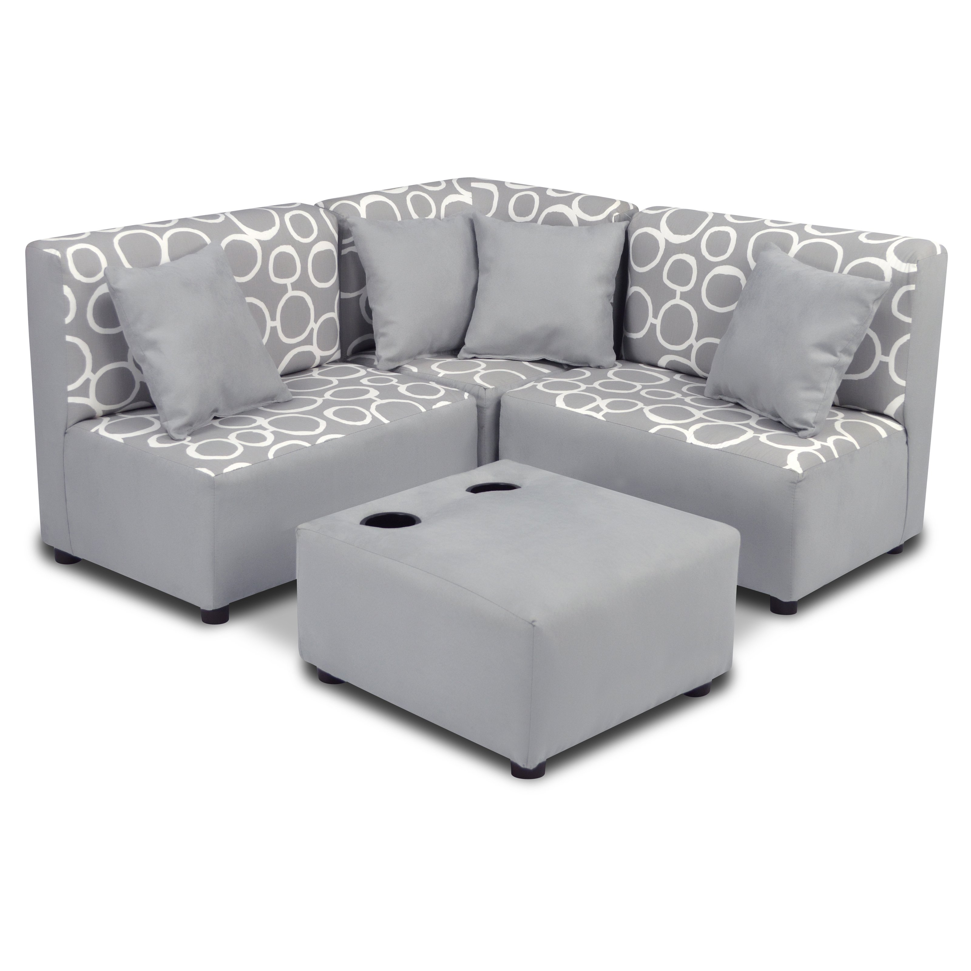 Kid s Sectional Set Freehand Storm Twill with Pebbles includes