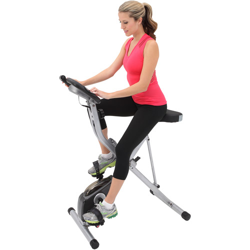Exerpeutic Magnetic Upright Exercise Bike with Heart Pulse Sensors