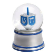Chanukah Gift - Music Box Spinning Dreidel Snowglobe