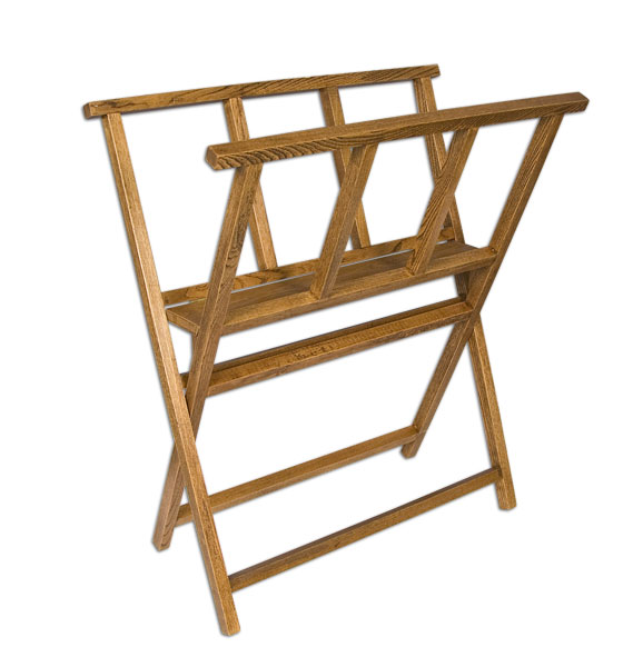 Creative Mark Folding Wood Large Print Rack