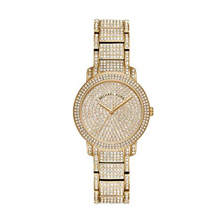 Michael Kors Women's Gold Tone Pave Glitz Watch MK6458 - Michael Kors Boutique