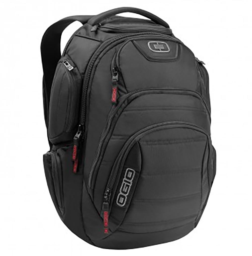OGIO Renegade RSS Padded 15 Inch Laptop Computer Backpack Book Bag, Black Pindot