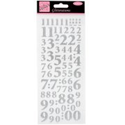 Anita's Glitterations Numbers-Silver