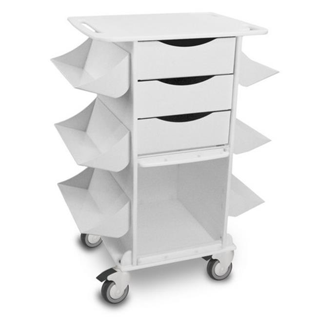 TrippNT 51018 White Polyethylene Core CL Cart with Clear PETG Door - 27 x 36 x 19 in.