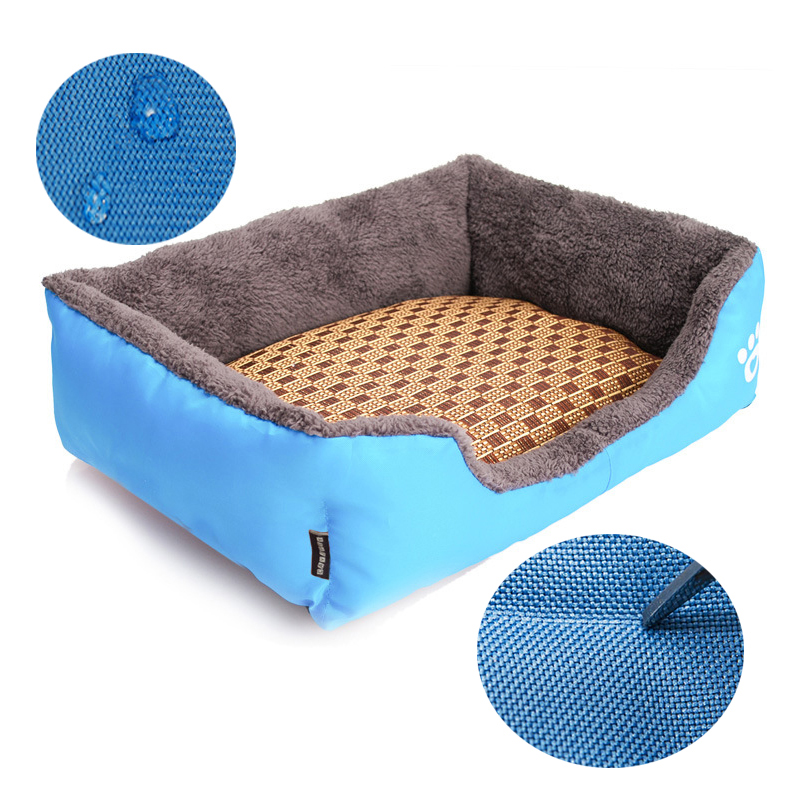 Square Kennel Mat Candy Pets Cushion for Puppy Pet / Cats / Dogs, Luxury Sofa Doghouse Blue Pets Beds for Large Dogs, S-2XL