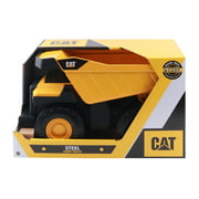 """Cat Mighty Steel Toy Dump Truck  - 17"""" free wheeling Dump Truck made with real steel"""