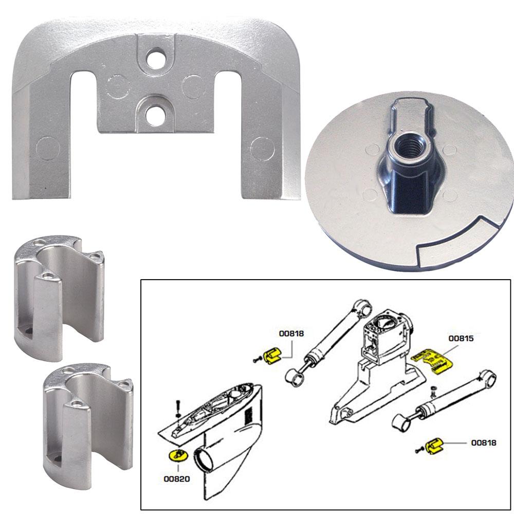 Tecnoseal Anode Kit Merc Bravo 2 3 W/ Hardware Aluminum Poly